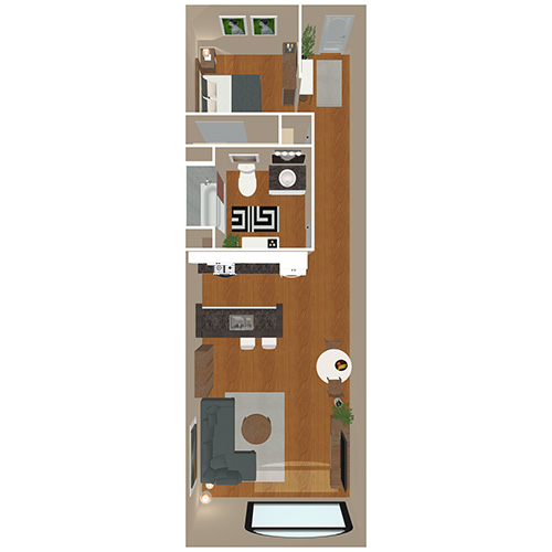 Bank And Boston Lofts Apartments 1 Bed Bath Blake Floor Plan