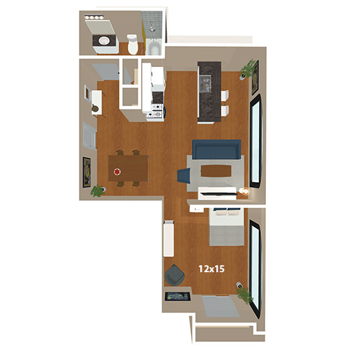 Bank And Boston Lofts Apartments 1 Bed Bath Lawrence Floor Plan