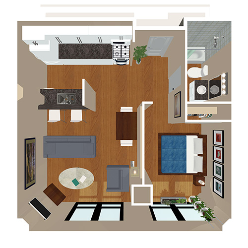 Bank And Boston Lofts 1 Bed Bath The Arapahoe Floor Plan